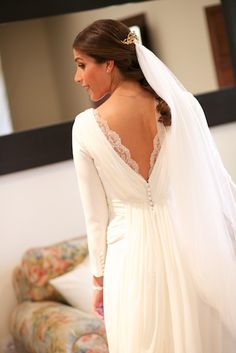 15 long sleeve wedding dresses that will make you fall in love . - 15 long-sleeved wedding dresses that will make you fall in love # fall in love Wed - Wedding Dress With Veil, Wedding Dress Sleeves, Wedding Bride, Lace Dress, Boho Vintage, Perfect Bride, Long Sleeve Wedding, Dress Backs, Simple Dresses