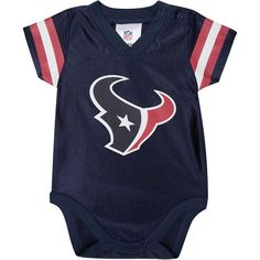 Texans Baby Jersey Onesie  Texans  Baby  Infant  Toddler  Babyfans Toddler  Outfits ee6fea233