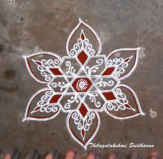 Rangoli Kolam Designs on Happy Shappy in Here you can find the most beautiful & Simple design, photos, images, free hand and more in Small & Large design Ideas Simple Rangoli Designs Images, Rangoli Designs Flower, Rangoli Border Designs, Small Rangoli Design, Rangoli Designs With Dots, Flower Rangoli, Beautiful Rangoli Designs, Rangoli Borders, Rangoli Patterns
