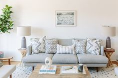 Pillow Party - An Affordable Scandi Beach House Reno You Have To See To Believe - Photos