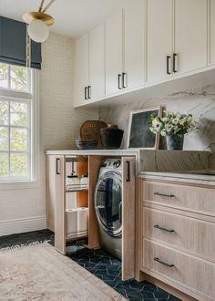 Laundry Room Shelves, Laundry Room Design, Laundry Rooms, Small Laundry, Kitchen Design, Laundry Area, Laundry Basket, Interior Design And Real Estate, Japanese Inspired Bedroom