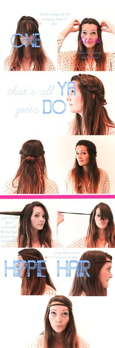 Hippie Hair (2 hairstyle how to's) - Imgur