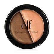 elf essential duo eye shadow cream - get butter pecan and sugar cookie for base and highlighter, respectively