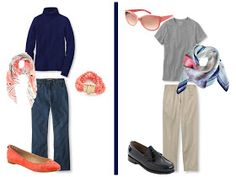 The Vivienne Files: A Common Wardrobe Variation, in Navy & Coral