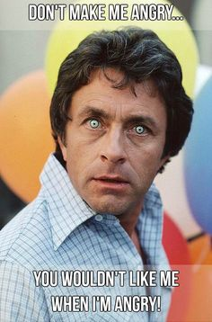 The Incredible Hulk TV show from the starring Bill Bixby and Lou Ferrigno, proved that fans liked Dr David Banner even more when he was angry. Marvel Comics, Hulk Marvel, Avengers, Ms Marvel, Marvel Art, Captain Marvel, Pulp Fiction, Gi Joe, Incredible Hulk Tv