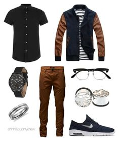 """Untitled #232"" by ohhhifyouonlyknew on Polyvore featuring Topman, Jack & Jones, Cutler and Gross, Vestal and Blue Nile"