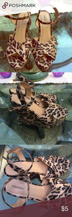 Size 8 Xhilaration Wedges Size 8 Xhilaration Cheetah Print wedges. NEVER worn, brand new condition! 😍 Xhilaration Shoes Wedges