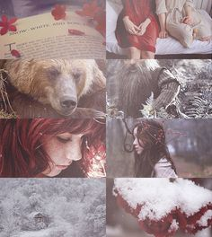 Fairy Tale Picspam → Snow-White and Rose-Red.>>>>> Rose Red was different from her pale calm sister. While Snow would sit and practice her singing and read books Red would run through the glen and practice her combat. Story Inspiration, Writing Inspiration, Character Inspiration, Red Riding Hood, Fantasy World, Disney Art, Faeries, Red Roses, Mythology