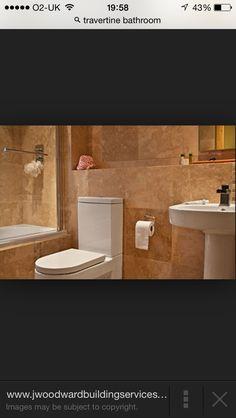 Bathroom tavertine