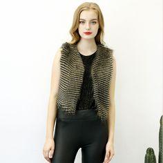 2017 Fashion Street Women's The New Imitation Fur Vest Classic Trend Vest Short Patchwork Small Jacket Paragraph Leather Coat