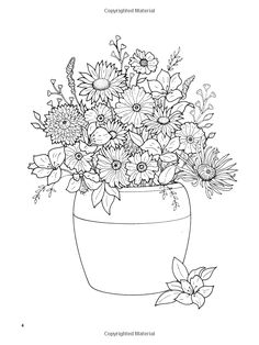 Amazon Floral Bouquets Coloring Book Dover Nature 9780486286549