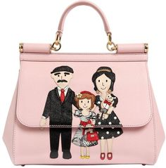 Medium Sicily Family Patches Leather Bag