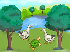 The tortoise and the geese   Panchatantra stories retold