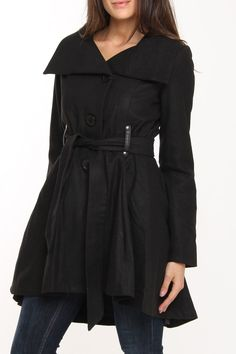 Yoki London Coat In Black