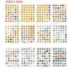 mix 10 sheets/lot Classic /face/9.1 New Emoji stickers (48 Die Cut ) sticker for notebook fun message Vinyl*funny*creative