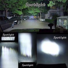 60W 12 Leds Light Bar Floodlight/Spot Lightt Work Light ATV Off Road Driving Lamp DC10-30V Work Lights, Electric Scooter, Car Audio, Bar Lighting, Atv, Offroad, Motorbikes, Mtb Bike, Off Road