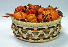 Harvest Time Centerpiece basket pattern by Suzanne Moore.  Free pattern available at ncbasketworks.com; kits also available.