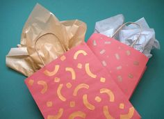 DIY metallic gift ba