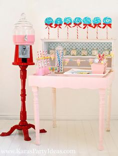 if only i could have one of those super red milkshake dispensers in my house...the toddler and i would be hanging from the lightshades - all milkshaked up!