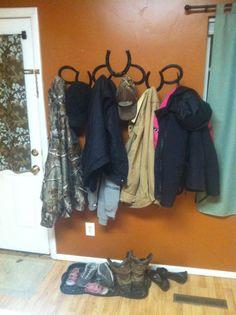 Yes, the DIY horse shoe coat hanger!