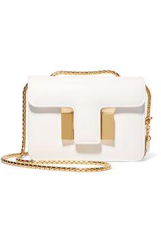 ca2844c87b5302 Tom Ford white and gold mini bag Tom Ford Handbags, White Leather Handbags,  Leather