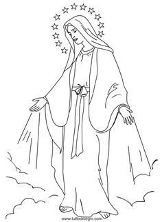 blessed virgin mary coloring pages - photo#19