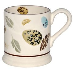 """Egg & Feather"" Egg & Feather 1/2 Pint Mug at Emma Bridgewater"