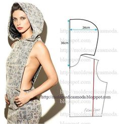 New Sewing Clothes Hoodie Ideas Techniques Couture, Sewing Techniques, Dress Sewing Patterns, Clothing Patterns, Hood Pattern Sewing, Diy Clothing, Sewing Clothes, Fashion Sewing, Diy Fashion