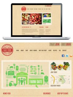 Web design for Ceres Fair Food by SouthSouthWest