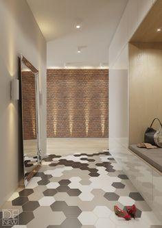 СВЕТЛАЯ КВАРТИРА ДЛЯ МОЛОДОЙ ДЕВУШКИ Corridor Design, Entrance Doors, Design Case, Closet Doors, Tile Design, Mudroom, Home Interior Design, Decoration, Entryway