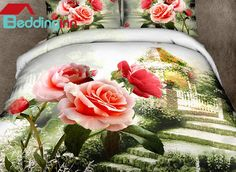 Fancy trying the rose pattern duvet cover set Buy it>>>http://urlend.com/iARFrab Live a better life, start with Beddinginn http://www.beddinginn.com/product/Beautiful-Rose-Garden-Print-4-Piece-Cotton-Duvet-Cover-Sets-11246167.html