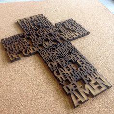 Mdf corte láser cruz oración - laser cut wood