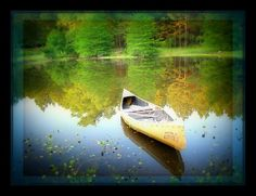 Peaceful Lake Canoe
