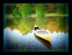 Peaceful Lake Canoe