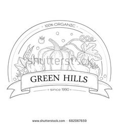 Organic fresh logotype template with vegetables.