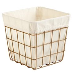 Index Cube Bin (Gold)  | The Land of Nod