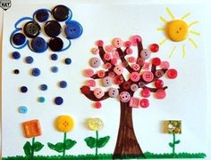 Button Crafts Ideas For Kids! #Family #Kids #Musely #Tip