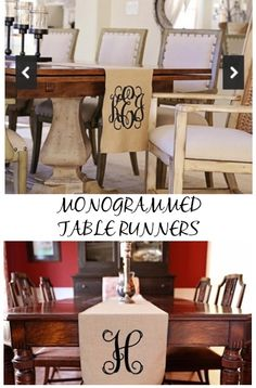 Home Decor for the Kitchen  table runners, love these shabby chic idea, home decor for less, Kitchen design ideas