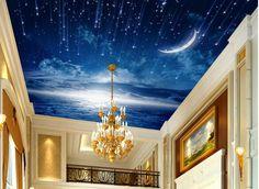 modern custom 3d ceiling star murals Meteor shower ceiling wallpaper living room Non woven 3d wallpaper for ceiling-in Wallpapers from Home Improvement on Aliexpress.com   Alibaba Group