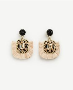 Primary Image of Raffia Earrings