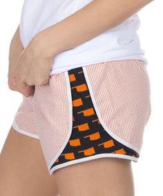 Orange Oklahoma Seersucker Shorts