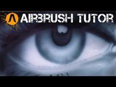airbrushing the eye