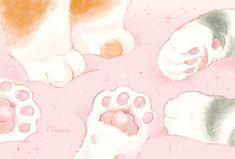 Arte Do Kawaii, Kawaii Art, Kawaii Anime, Kawaii Drawings, Cute Drawings, Japon Illustration, Cat Aesthetic, Cute Anime Wallpaper, Jolie Photo