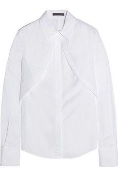 Alexander McQueen Cotton-poplin shirt | NET-A-PORTER