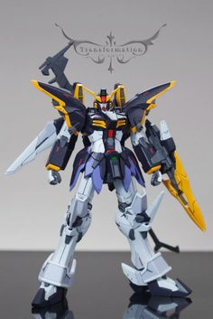 Gundam Kits Collection News and Reviews: MG 1/100 Gundam Deathscythe Ver. EW with Rousette Armament By Jinvsgz