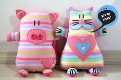 Stuffies Pig & Cat