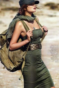 Vogue Paris, Military Issue March 2010 - Model: Eniko Mihalik - Stylist…
