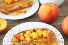 Peaches and Cream Stuffed French Toast — Punchfork