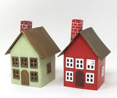 paper houses printable easy template glitter pattern papercraft craft paperglitterglue glue cardboard templates putz christmas 3d windows village patterns projects