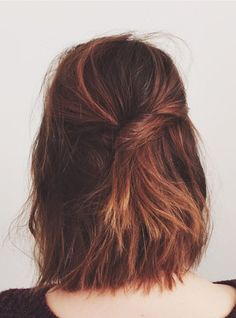 This easy twist is proof that second-day hair can look super polished.
